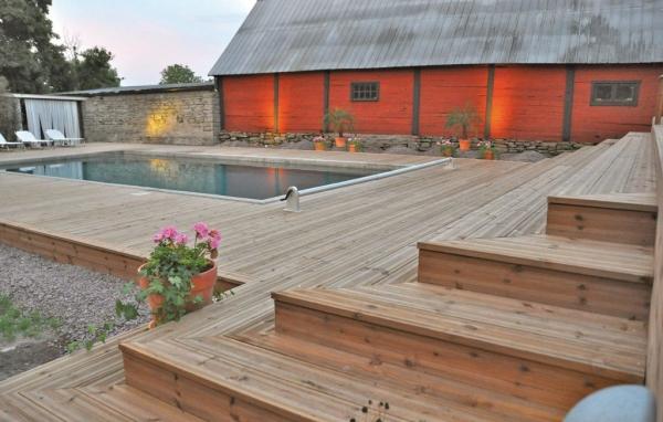 Hus med pool på Öland