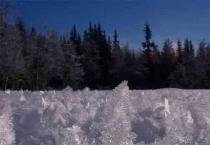 Kristaller i snön
